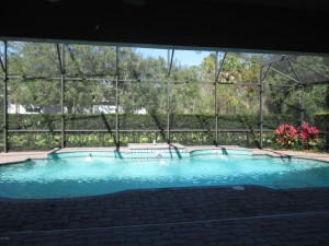 screened pool in Ormond Beach house